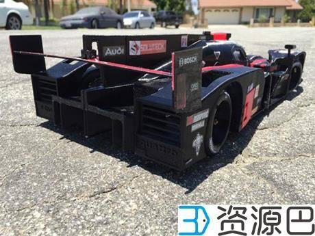 创客为纪念拳王阿里3D打印奥迪R18 E-Tron Quattro遥控赛车插图9