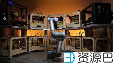 太智能了!云机器人可同时照看数十台3D打印机插图3