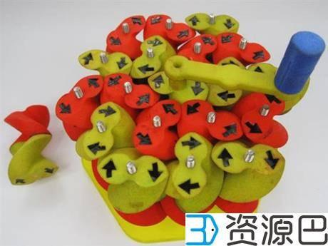 3D打印神奇齿轮阵可以同时向相反方向转动插图1