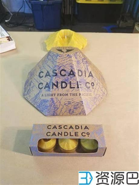 1602727266-a5dbeee983957a2.jpg-插件-蜂蜡专家借3D打印技术将大山模型制成Cascadia蜡烛