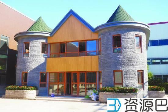 3D打印别墅落地北京通州 形似童话城堡插图3