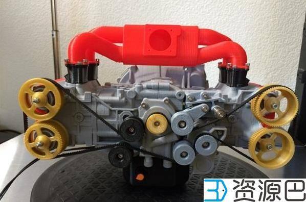 1607997672-0ecb871f23148e3.jpg-插件-大神级建模师用3D打印造出可运转的斯巴鲁水平对置发动机
