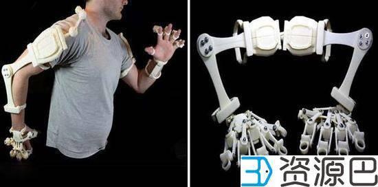 澳洲设计师用3D打印打造全套外骨骼:手足俱全插图1