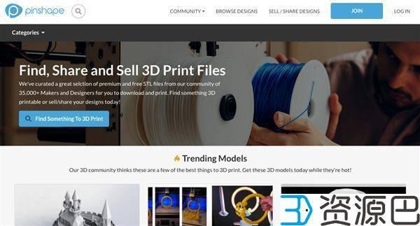 盘点国外十大最受欢迎的免费3D打印模型STL文件下载网站插图5