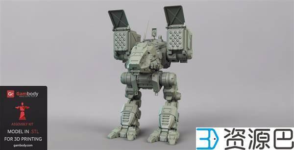 1608775266-9d7a82359c0aee5.jpg-插件-游戏迷看过来 3D打印《机甲战士》Catapult模型超逼真