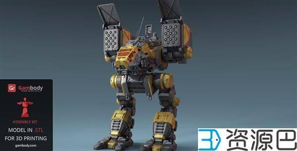 1608775266-a2e5648d6d78cf2.jpg-插件-游戏迷看过来 3D打印《机甲战士》Catapult模型超逼真