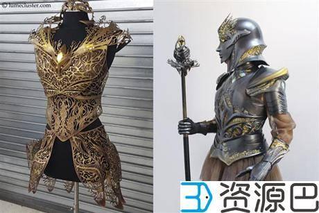 """1614304866-3b0b63d9646ebfd.jpg-插件-绝对惊艳!女设计师用3D打印打造""""极客女皇""""盔甲"""