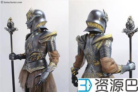 """1614304866-9bcdc5a774d8044.jpg-插件-绝对惊艳!女设计师用3D打印打造""""极客女皇""""盔甲"""