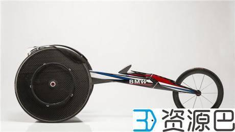 宝马助力2016残奥会 为美国运动员定制用3D打印气动竞速轮椅插图3