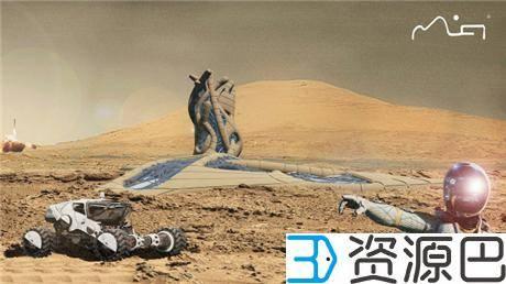 1617847270-846d4def2d87cc7.jpg-插件-印尼建筑师欲在莫哈维沙漠3D打印火星城市栖息地原型