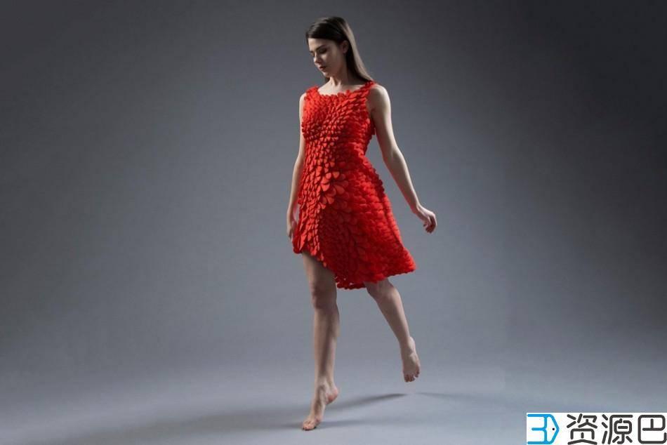 惊艳之作:3D打印红裙,千片拼装成完美插图5