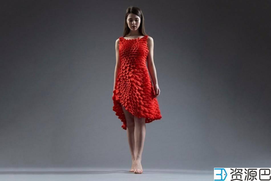 惊艳之作:3D打印红裙,千片拼装成完美插图1