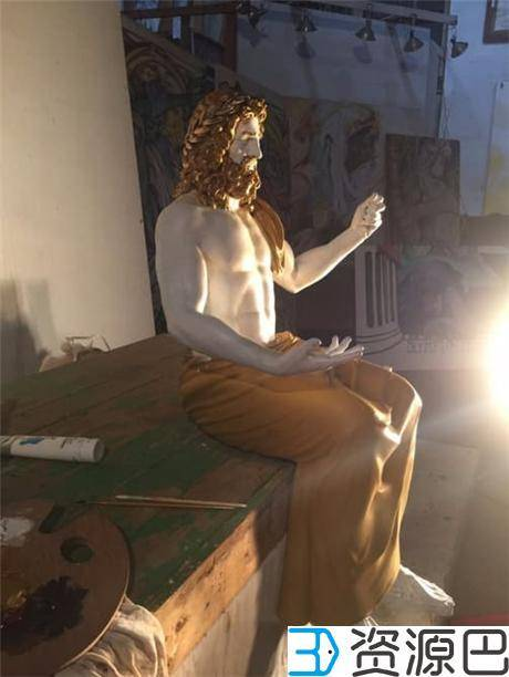 1618797670-8b2892d315681ad.jpg-插件-博物馆携手Stratasys 3D打印世界七大奇迹之宙斯神像复制品