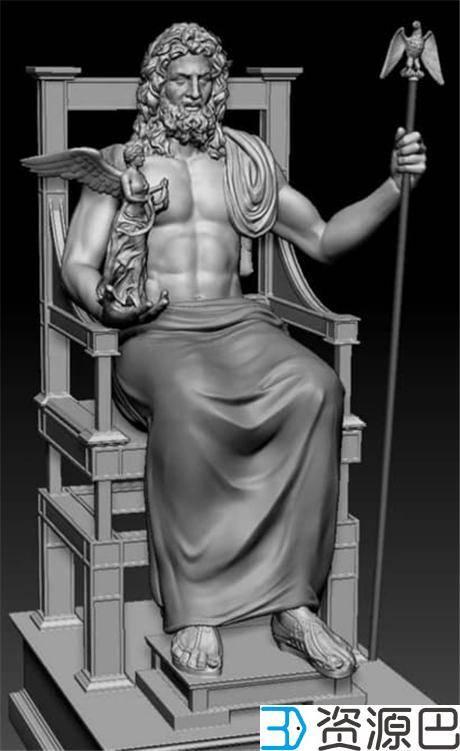 1618797670-c8e87c61fccb049.jpg-插件-博物馆携手Stratasys 3D打印世界七大奇迹之宙斯神像复制品