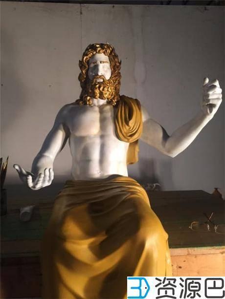 1618797670-ca611d086625485.jpg-插件-博物馆携手Stratasys 3D打印世界七大奇迹之宙斯神像复制品