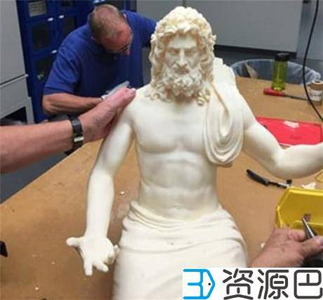 1618797670-dc03dbc2b2a9aff.jpg-插件-博物馆携手Stratasys 3D打印世界七大奇迹之宙斯神像复制品